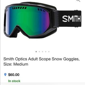 Smith Optic Adult Scope Snow Goggles in black